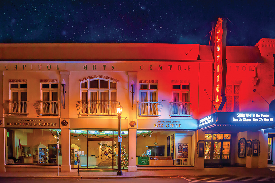 Exterior of the Capitol Theatre at night